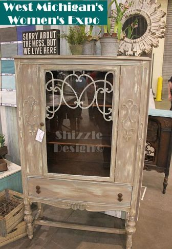 shizzle design chalk and clay painted china cabinet pie safe west michigan's women's expo american paint company