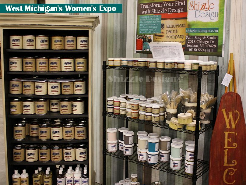 women's expo shizzle design american paint company display