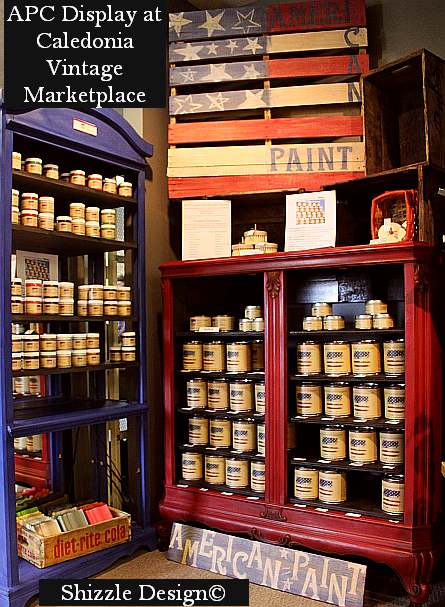 Caledonia Vintage Marketplace Shizzle Designs American Paint Company Paints chalk and clay paint Michigan colors Caledonia Vintage Marketplace 2