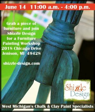 Learn how layer Chalk Paint colors DIY ideas inspiration Shizzle Design painted furniture makeovers workshops best class Grand Rapids Michigan American Paint Company teal 6.14