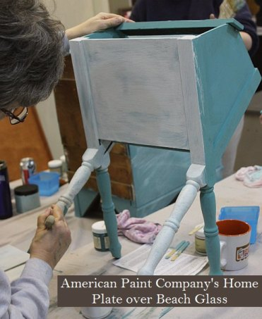 Learn how to layer colors chalk clay paints Shizzle Style furniture paint workshop Jenison MI American Paint Company Paints best ideas 6