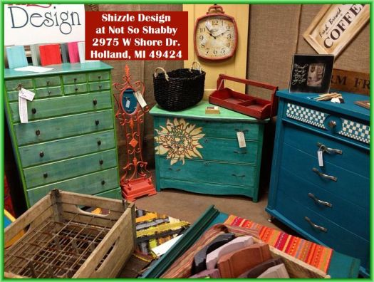 Shizzle Design booth 16 hand painted furniture american paint company chalk clay paint Michigan retailer best 2