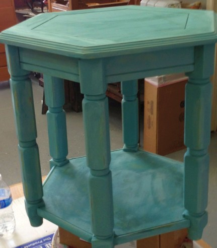 August chalk paint Beach Glass teal ideas inspiration Shizzle Design painted furniture table workshops best class Jenison Michigan American Paint Company