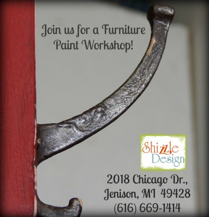Learn how layer metallic mica powders chalk clay paint colors DIY ideas inspiration Shizzle Design painted furniture makeovers workshops best class Jenison Michigan American Paint Company