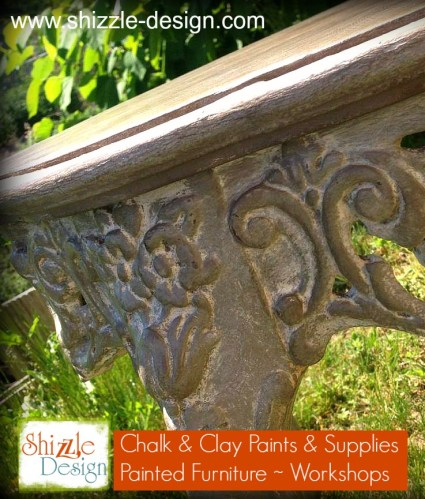 Shizzle Design chalk painted furniture table Sackcloth Cameo ideas Michigan layering gray pink table
