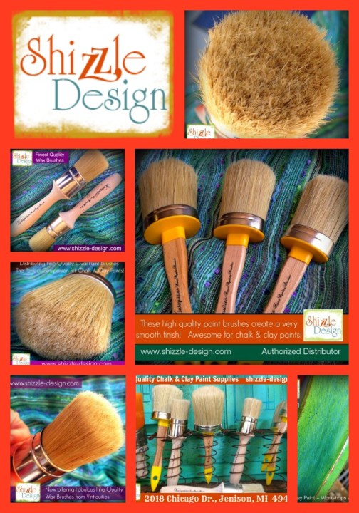 Vintiquities finest paint and wax brushes Shizzle Design Distributor Retailer