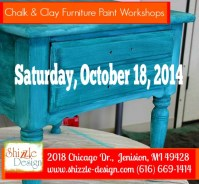 chalk clay paint workshops shizzle design grand rapids michigan learn how to paint furniture