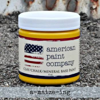 American Paint Company a-maize-ing new bright yellow Shizzle Design sample pot