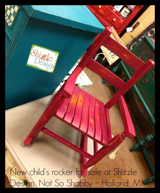 childs painted rocking chair bordello purple american paint company shizzle design chalk clay paints michigan