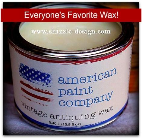 American Paint Company's Clear Vintage Antiquing Wax Shizzle Design #shizzle-design.com 2