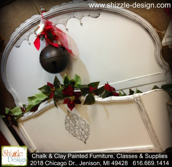 Christmas 2014 American Paint Company retailer Shizzle Design Chalk paint supplies antique white bed furniture