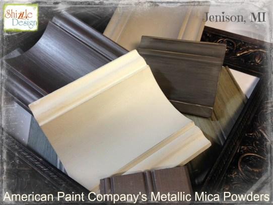 american paint company retailer metalllic mica powder shizzle design jenison michigan