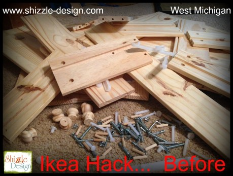 Ikea Hack before pile of wood dresser shizzle design grand rapids michigan