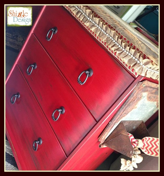 Ikea Hack fabric Junk Gypsies Kitchen Island red chalk paint ideas shizzle design barn wood metal rust 3