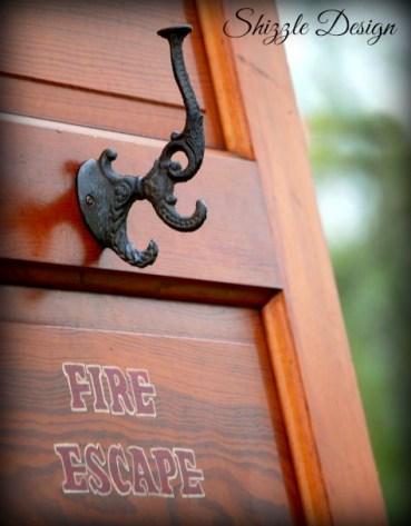 antique door fire escape hook shizzle design
