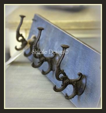hooks - vintage looking hooks on black wood 3