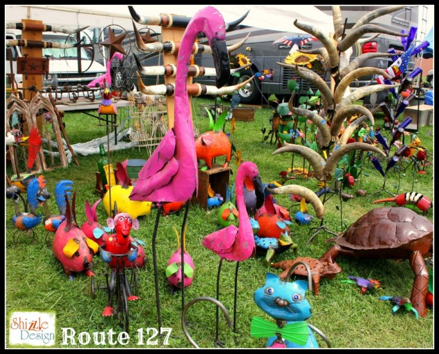 route 127 flea market sale yard decor shizzle design