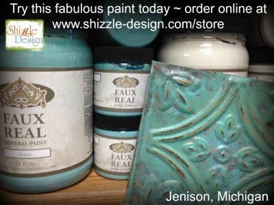 Acqua - Faux Real Mineral Paint Shizzle Design Michigan retailer creamy vintage bone antique white chalk paint