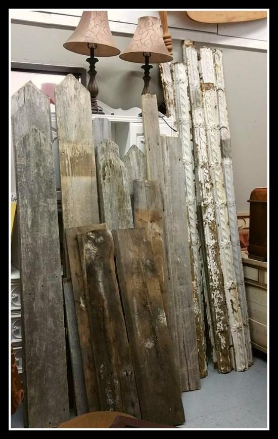 Barn wood, vintage, antique metal patina crown molding strips for sale Shizzle design