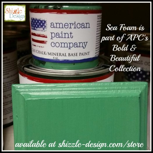 Bold Beautiful Collection by American Paint Company Chalk Clay Paint Shizzle Design retailer Grand Rapids Michigan - Sea Foam, green