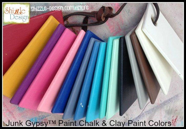 Junk Gypsy Chalk Clay Paint Colors white blue red pink buy online Shizzle Design Grand Rapids Michigan