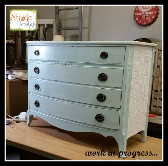 Rachel Ashwell Shabby Chic Chalk Clay Paint Painted Bow Front Dresser Shizzle Design Grand Rapids Michigan retailer where to buy