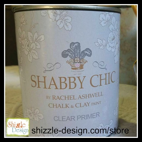 Shabby Chic Chalk Clay Paint by Rachel Ashwell Clear Primer painted furniture shizzle design grand rapids michigan retailer