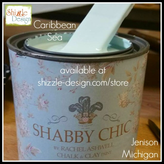 Shabby Chic Chalk Clay Paint by Rachel Ashwell pastel colors Caribbean Sea Blue painted furniture shizzle design grand rapids 1