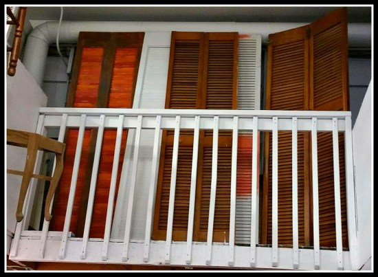 louvered bi-foldl pantry closet shutter doors wood white