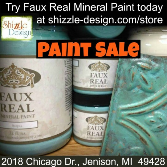 Acqua - Faux Real Mineral Paint Shizzle Design Michigan retailer best lowest prices on chalk paint buy shop online save on sale low price