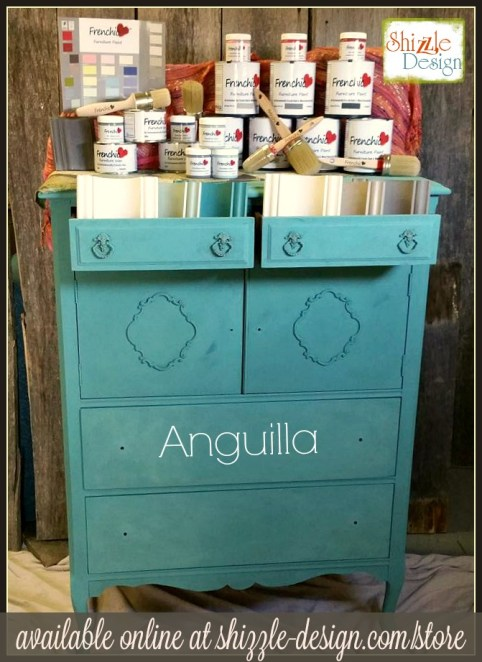Frenchic Furniture Paint - Anguilla - teal antique vintage highboy dresser medium teal chalk paint, Shizzle Design, paint supplies, Jenison, Michigan