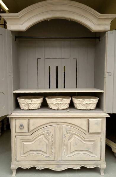 Frenchic Furniture Paint - 1 Lady Grey, Posh Nelly, Rustic Wax, White Wax, painted furniture, wardrobe, armoire, rich finish, shizzle design, michigan, chalk paint, retailer, where to buy
