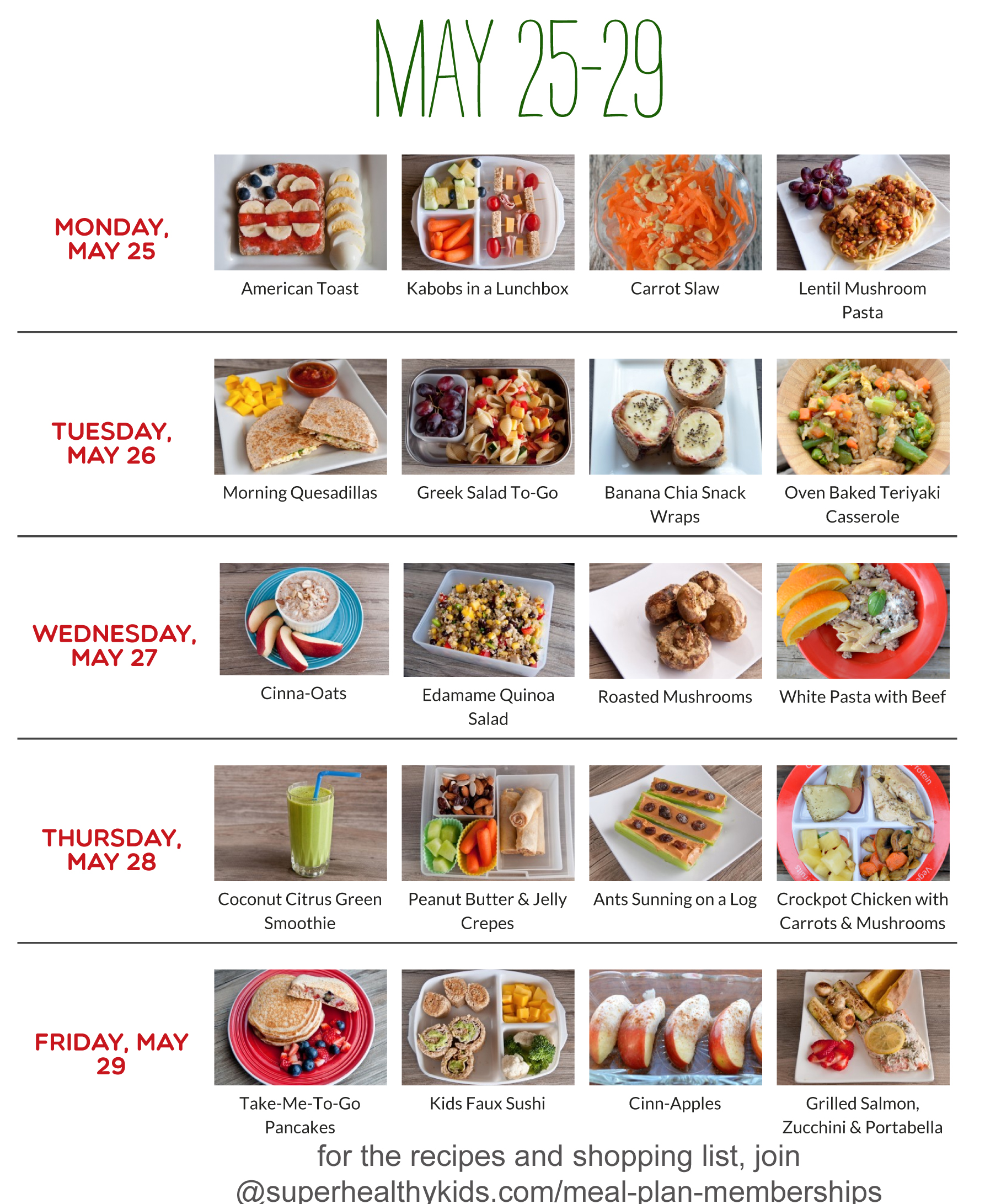 Healthy Meals Healthy Meal Plans For Kids