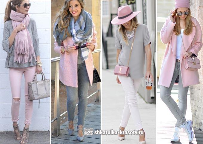 Kombinasi bunga dalam pakaian merah muda