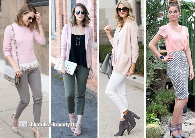 La combinaison de rose dans des vêtements