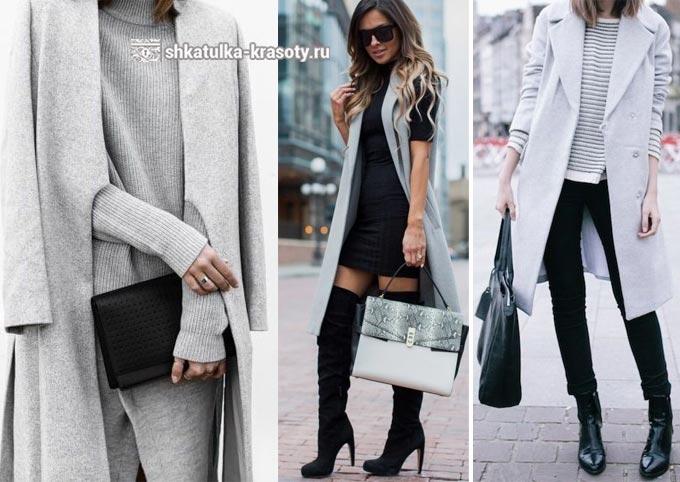 Abu-abu dan hitam dalam pakaian