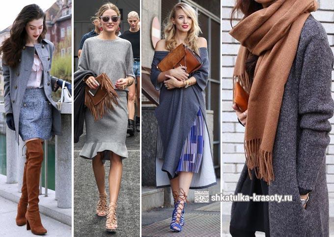 Combinaison de gris et brun en vêtements