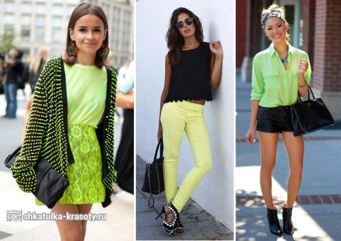 The combination of colors in clothes lime 4