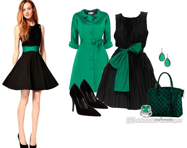 Emerald color in clothes