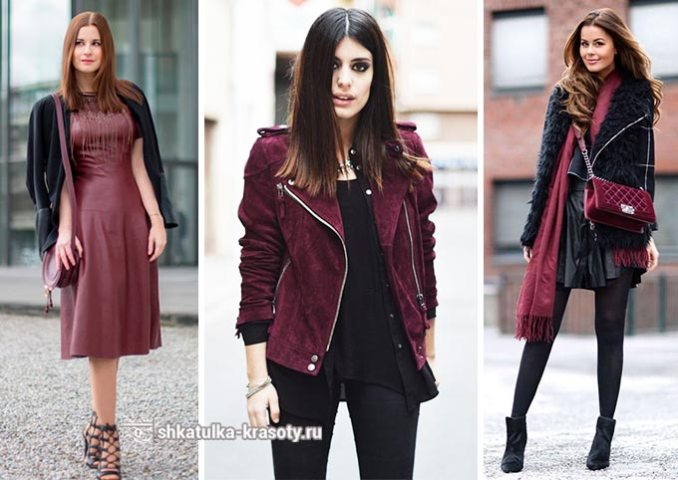 marsala and black in clothes