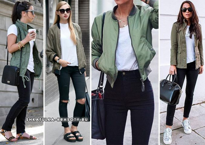 khaki combination in clothes