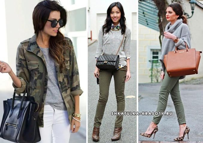 gray and khaki in clothes