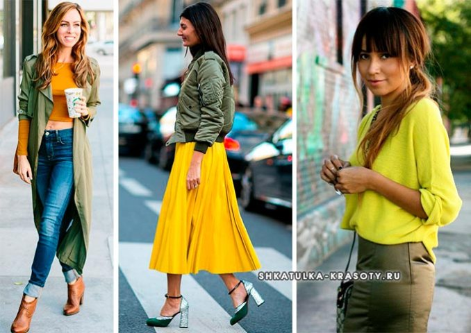 khaki with yellow in clothes