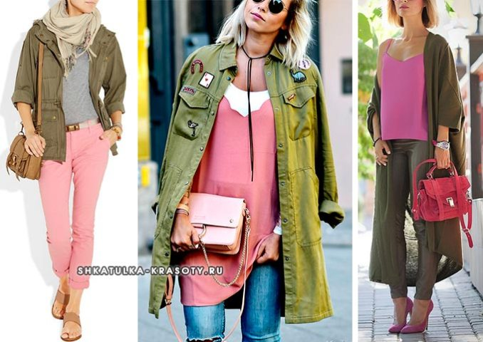 combination of khaki colors in clothes