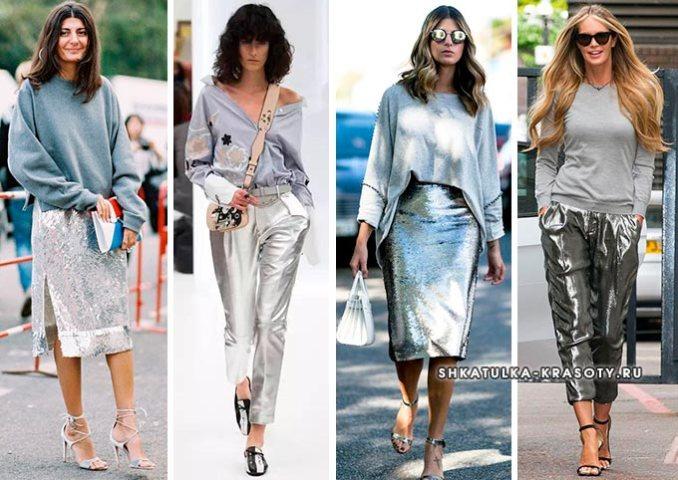 silver metallic clothing