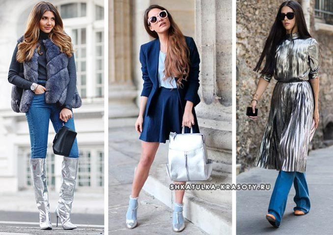 silver and blue in clothes