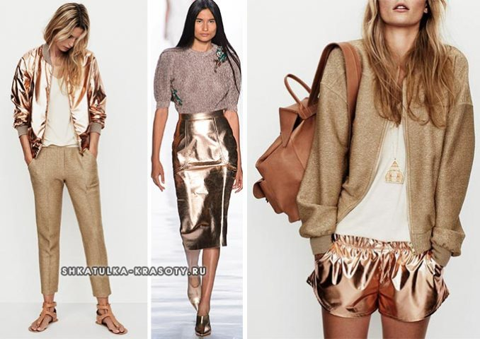 beige and gold color in clothes photo