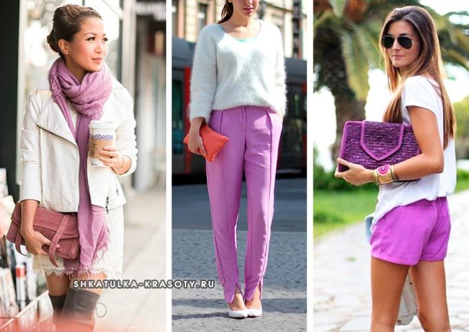 what color is combined with lilac in clothes