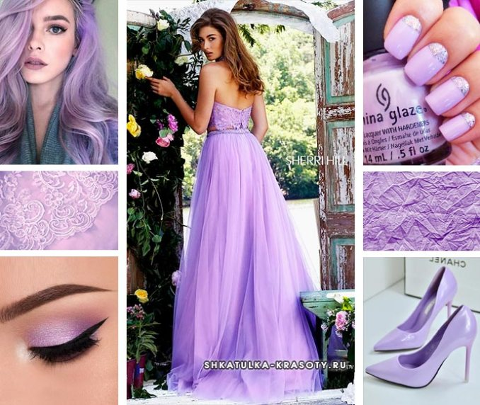 lilac color in combination clothes