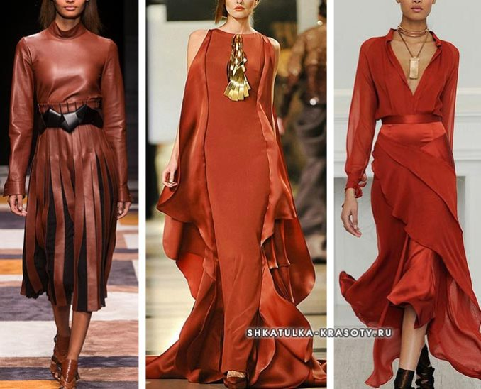 terracotta dresses with fashion shows